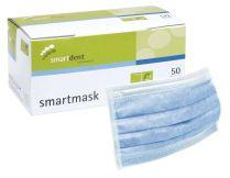 Einmal-Mundschutz 3-lagig latexfrei blau (smartdent)