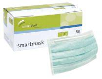 Einmal-Mundschutz 3-lagig latexfrei grün (smartdent)