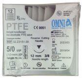 PTFE Nahtmaterial 12 St. 5/0, 3/8 Kreis, 12mm (Omnia)