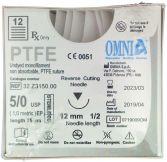 PTFE Nahtmaterial 12 St. 5/0, 1/2 Kreis, 12mm (Omnia)