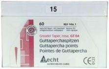 Rosa Guttaperchaspitzen GT 04 Gr. 15 (Alfred Becht)