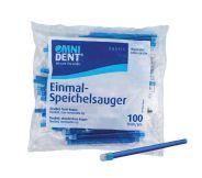 Einmal-Speichelsauger lose Kappe blau 100er (Omnident)