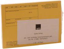 EDV Anschriftenblatt  (Spitta Verlag)