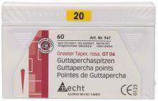 Rosa Guttaperchaspitzen GT 06 Gr. 20 (Alfred Becht)