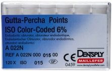 Guttapercha-Spitzen .06 color Gr. 15 weiß (Dentsply Sirona)