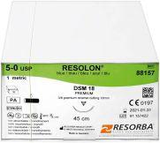 RESORBA® RESOLON® Nahtmaterial DSM18 5/0 1,0 blau (Karl Hammacher)