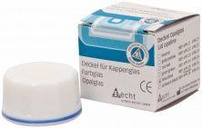 Kappenglasdeckel Opalglas blauer Ring (Alfred Becht)