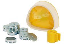 Magnet-Splitcastformer Kit  klein ,  gelb (SAM)