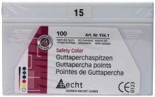 Guttaperchaspitzen safety color Gr. 015 weiß (Alfred Becht)