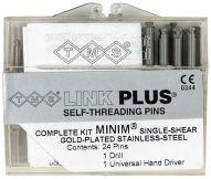 TMS Link Plus Edelstahl goldbeschichtet Minim silber 24er (Coltene Whaledent)
