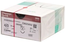 Monosyn® Quick - 0,70m 4/0 HR17 (B. Braun Petzold)