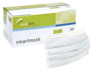 Einmal-Mundschutz 3-lagig latexfrei weiß (smartdent)