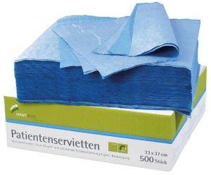 Patientenservietten 2-lagig blau (smartdent)