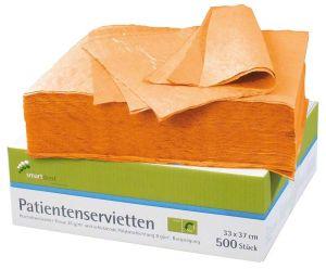 Patientenservietten 2-lagig orange (smartdent)