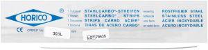 Stahlcarbo®-Streifen mit Lücke 303L 0,1mm, 3mm, einseitig (Horico)