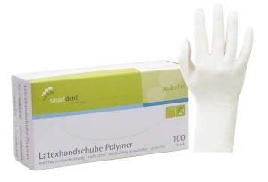 Latexhandschuhe Polymer Gr. M (smartdent)
