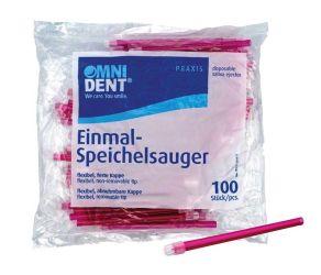 Einmal-Speichelsauger lose Kappe rot 100er (Omnident)