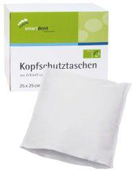 Kopfschutztaschen 25 x 25cm weiß (smartdent)