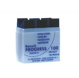 Bausch Progress 100 Streifen 100µ blau Plastikspender (Bausch)