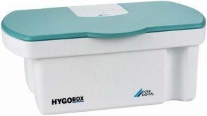 Hygobox Deckel türkis Siebeinsatz weiss (Dürr Dental)