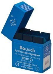 Artikulationspapier Streifen 200µ blau Plastikspender (Bausch)