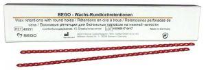 Wachs-Rundlochretentionen 15 Stück (Bego)