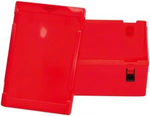 Labor-Container Gr. 2 mit Deckel rot  (Speiko)