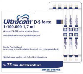 Ultracain® D-S forte 100 Zylinderampullen (Sanofi-Aventis)